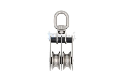 S.BL06 Swivel Eye Folding Pulley, Double Sheaves