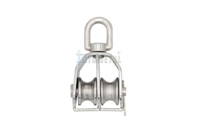 S.BL02 Swivel Eye Pulley, Double Sheaves