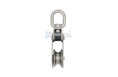 S.BL05 Swivel Eye Folding Pulley, Single Sheave