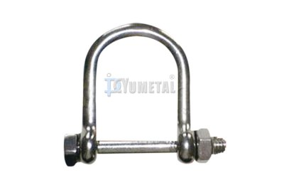 S.SH12 Wide D Shackle with Bolt & Nut Pin